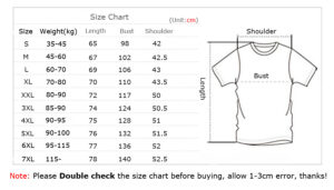 tee size table